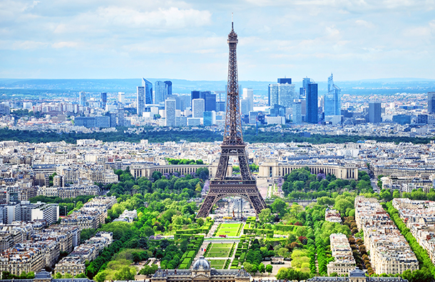 Paris skyline during the day