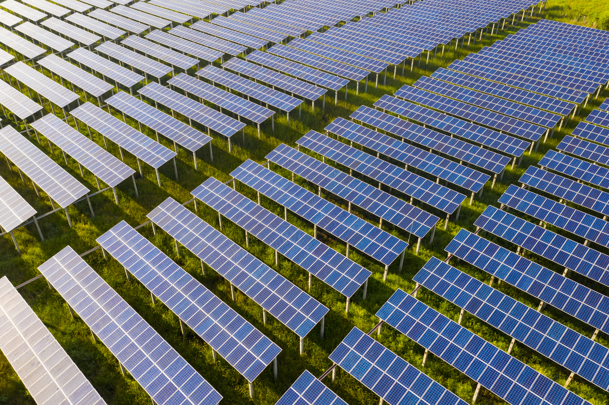 Solar panels as part of a Community Solar farm